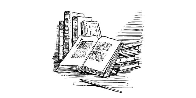 本が積み重なる画像