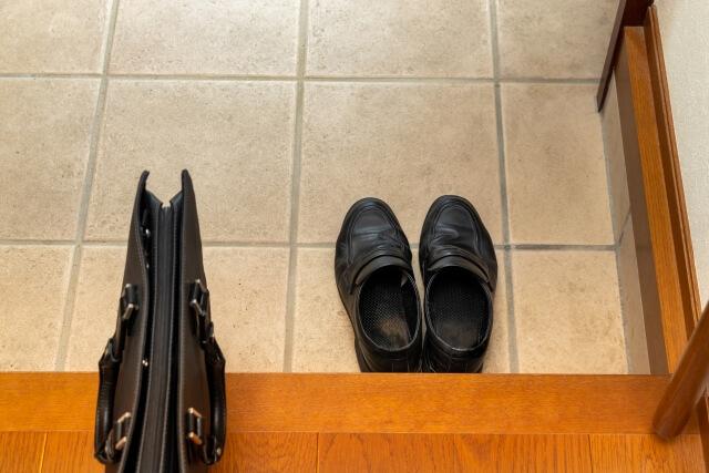玄関に置かれる靴