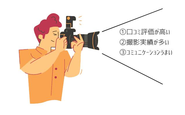 ラブグラフ人気カメラマン3つの特徴
